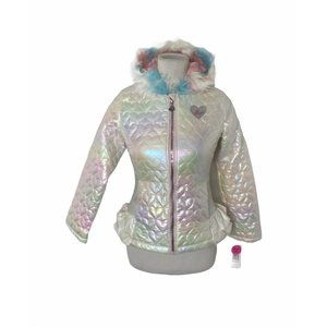 NWT girls Betsey Johnson quilted puffer jacket